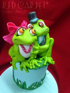 FROG'S WEDDING CAKE-by Red Carpet Cake Design®