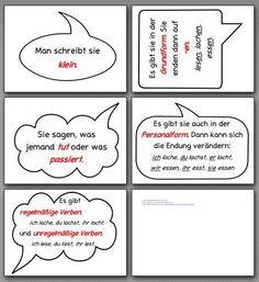 Wortartenwand Material für Verben