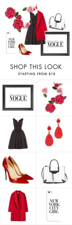 """""""i'm a lady in red"""" by ratsame on Polyvore featuring Dot & Bo, Betsey Johnson, Oscar de la Renta, Christian Louboutin, Balenciaga and Casetify"""