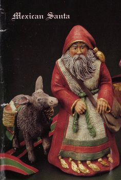 Old World Mexican Santa, Kimple Santa, Collectible Santa, Santa with Donkey, U-paint ceramic, Ready to paint, ceramic bisque on Etsy, $16.84 AUD