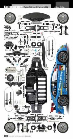 We have made hundreds of exploded view photos of R/C products, and are stored in our large database.