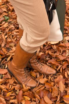 BOOTS, BROWN, LACE, SHOES, LEATHER