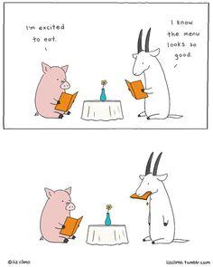 20 Adorably Funny Animal Comics by Liz Climo Funny Animal Comics, Animal Jokes, Funny Comics, Funny Animals, Cute Animals, Funny Cartoons, Funny Jokes, Funny Minion, Liz Climo Comics