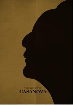 Casanova (1976) ~ Minimal Movie Poster by Zoki Cardula ~ Fellini Series #amusementphile