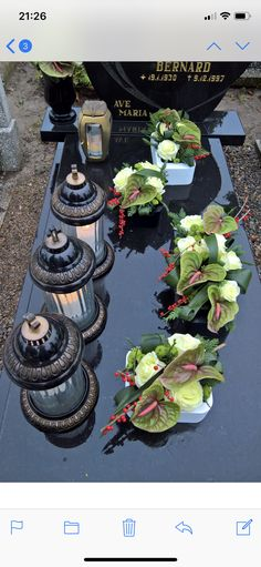 Funeral Flower Arrangements, Funeral Flowers, Floral Arrangements, Black Flowers, Fall Flowers, Grave Decorations, Table Decorations, Floral Centerpieces, Ikebana