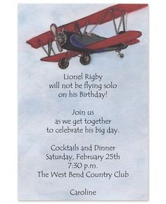 Plane Invitations - Glad Tidings (