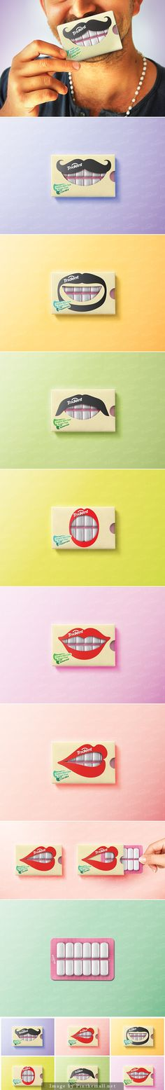 Trident Gum Packaging Concept by Hani Douaji #Packaging #Design #Branding