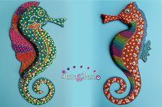 Mundo marino en puntillismo - Página web de arteypuntoenvigado