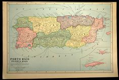 Puerto Rico Town Map