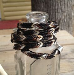 Custom Braided Horsehair Bracelet Your Horse Hair Or by Tarpan, $30.00
