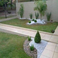 como se faz canteiro com pedras no jardim - Pesquisa Google