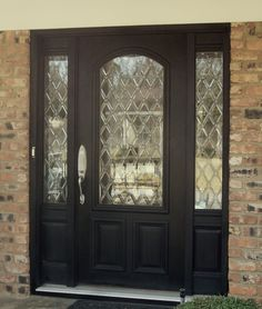 Replace the old out dated glass in your door with a timeless leaded glass pattern aaleadedglass.com