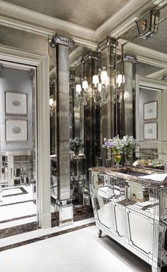 J RANDALL POWERS , luxury design, mirror decor, for more inspiration : http://www.covetlounge.net/all-products/