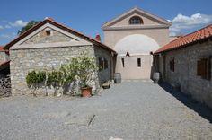 Der Archäologische Park Carnuntum im Juli 2014 - Festhalle einer Villa Urbana mit Apsis bzw. Halbkuppel