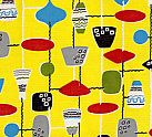 Vintage Home online shop - textiles Page 7 : Fabulous and Vibrant Vintage Fabric, Vintage 1950s French Abstract Curtain Panels , Striking 1950s French Abstract Curtains, Stunning Iconic 50s Atomic Curtains, 1950s Yellow Atomic Design Fabric and 1950s Atomic Design Fabric.