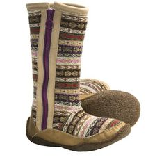 Sorel Norquay Sweater Boots (For Women) in Gloxina. So Ugly but I WANT them!