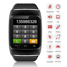 CNPGD® S12 Smart Sync Call SMS Bluetooth Watch Pedometer/Recording/Anti-Lost for
