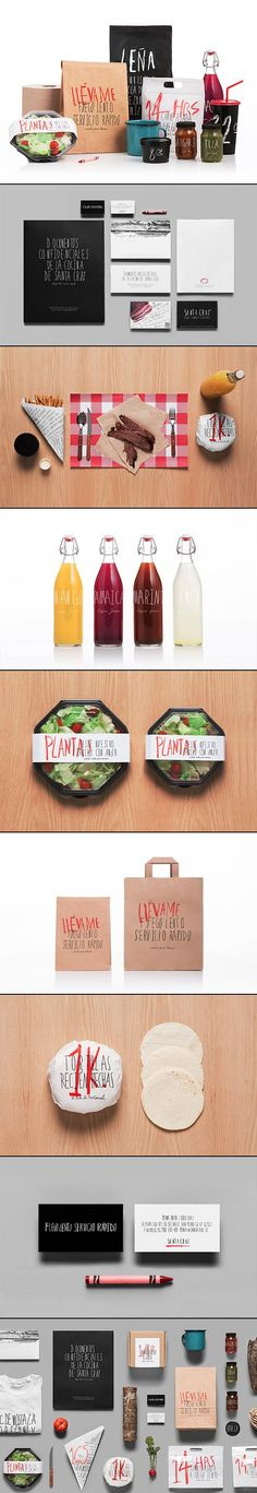 Let's have lunch @ Santa Cruz restaurant by Anagrama #identity #packaging #branding PD