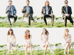 Brady Bunch style wedding party portraits put together by the photographer after the day are a great trend for wedding photography this year