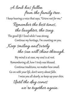 Funeral Poems For Grandma, Grandma Quotes, Dad Quotes, Life Quotes, Memorial Poems For Dad, Eulogy Quotes, Qoutes, Sister Quotes, Daughter Quotes