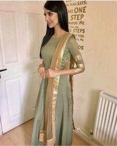Beautiful and very very stylish Pakistani Wedding Dresses, Indian Wedding Outfits, Indian Dresses, Indian Outfits, Pakistani Fashion Casual, Ethnic Fashion, Indian Fashion, Churidar Designs, Desi Clothes