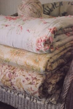 Handmade vintage blankets great condition by paperskyco on Etsy, $69.00