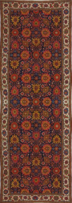 Antique Kurd Rug – Circa: 1860 Sizes: 7.4X21