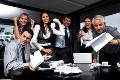 Aggressive business team.