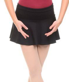 Another great find on #zulily! Rich Black Drop-Waist Skirt - Women & Petite #zulilyfinds