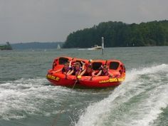 Lake Lanier: Fun for the Whole Family Boat Tubes, Sports Nautiques, Lake George Village, Summer Vacation Spots, Fun Winter Activities, Lake Water, Boat Rental, Lake Life, Cool Places To Visit