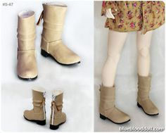 1 4 BJD MSD Beige Color Doll Shoes Boots Super Dollfie LUTS DZ DOD s 67M | eBay