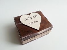 Wedding rings box/engagement ring box, wedding pillow rustic looking old vintage cotton lace shabby chic - pinned by pin4etsy.com