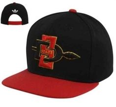 7a0767345db San Diego State Aztecs Black-Scarlet Basic Two-Tone Snapback Hat  23.95 80%  Acrylic 20% Wool Scructured fit Flat bill Adjustable plastic snap strap  Quality ...