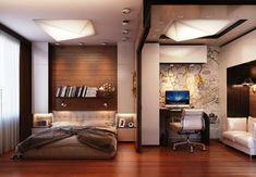 спальня и кабинет в одной комнате фото - Поиск в Google