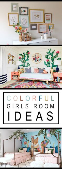 Colorful Girls Room Ideas. How to add a pop of color to any Room.