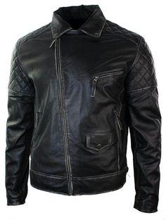Black Leather Motorcycle Jacket, Men's Leather Jacket, Vintage Leather Jacket, Biker Leather, Leather Men, Leather Jackets, Jacket Men, Real Leather, Stylish Jackets