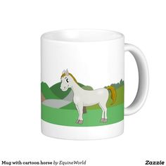 Mug with cartoon horse