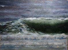 """""""Dark Green Wave"""" James S. Durtschi, painter"""