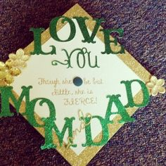Today is the day that I have worked towards my entire life. College graduation!!!! Though she be but little she is FIERCE!! #MyMasonCap #GeorgeMasonUniversity #graduationday #diditin4 #greenandgoldforever #MasonPatriots #4yearslater #Padgram