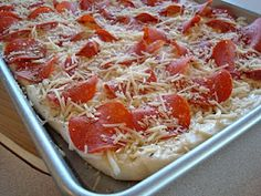 Mmm roadside pizza with creamy garlic sauce - perfect for RV cooking!