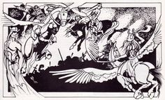 Valkyries, Choosers of the Slain. (Jim Roslof, from the Norse mythos section of AD&D Deities & Demigods, TSR, 1980.)