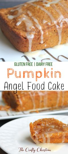 Fall is my favorite time of year, and all of the treats that come with it. This gluten free pumpkin angel food cake is easy and incredibly delicious! Pumpkin Angel Food Cake Recipe, Gluten Free Angel Food Cake, Gluten Free Pumpkin Bread, Vegan Pumpkin, Pumpkin Dessert, Pumpkin Recipes, Angel Food Cake Mix, Köstliche Desserts, Gluten Free Desserts