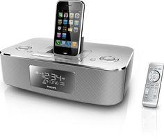 Amazon.com : Philips DC290/37 30-Pin iPod/iPhone Alarm Clock Speaker Dock (Brushed Aluminum) : Electronic Alarm Clocks : MP3 Players & Accessories
