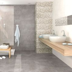 Grey Utopia Floor Tiles Paradise Stone Effect Tiles 450x450x8.8mm Tiles