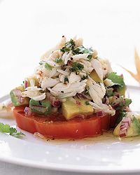 Chile-Lime Crab Salad with Tomato and Avocado