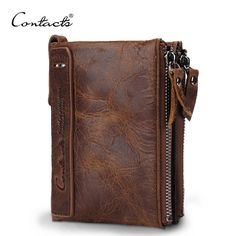 Genuine Crazy Horse Cowhide Leather Men
