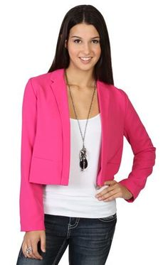 front lapel cropped open blazer-DEB Blazers, Coats, Sweaters, How To Wear, Jackets, Clothes, Fashion, Down Jackets, Outfits