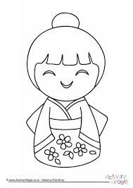Image Result For Japanese Doll Coloring Pages