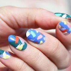 @alfakparis Instagram nail art - brushstrokes - colourful - manicure - nails - spring summer