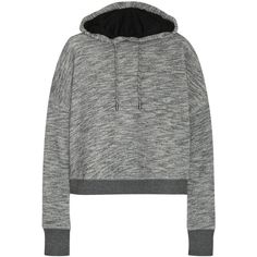 Rag & bone Murphy wrap-effect back cotton-terry hooded sweatshirt ($121) ❤ liked on Polyvore featuring tops, hoodies, grey, rag & bone, gray sweatshirt, rag & bone tops, gray hoodies and grey top
